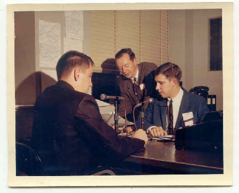 Election Night Coverage - Early 1960s -Deane Parkhurst, Doug Webster and Chief Engineer Bob Ardner