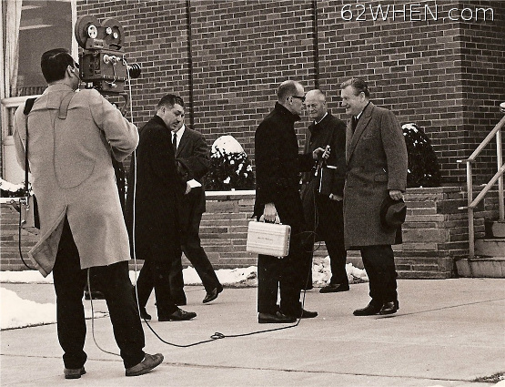62 WHEN Radio - TV Newsman Quent Neufeld Interviews Governor Nelson Rockefeller 1965
